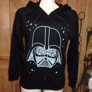 NWT New Star Wars Hooded Sweat Shirt Junior S Blk